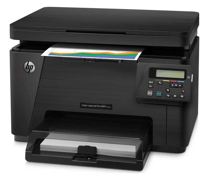 HP Color LJ Pro M176n - универсальная модель, которая подойдет для использования дома и в офисе