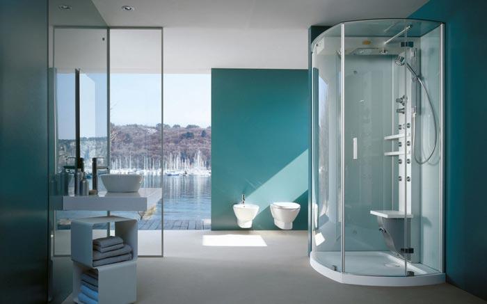 Выбирайте душевую кабину так, чтобы она не занимала слишком много места в ванной комнате
