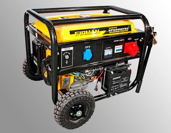 Бензиновые генераторы мощностью 5-10 кВт обычно оборудуются колесами