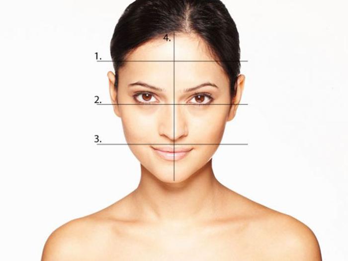 Замеры для определения формы лица