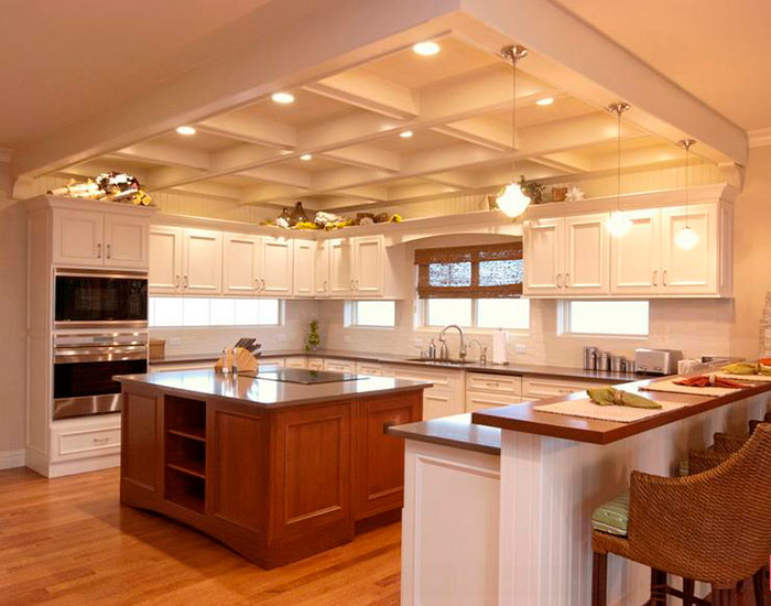 Потолок из гипсокартона можно сделать многоуровневым