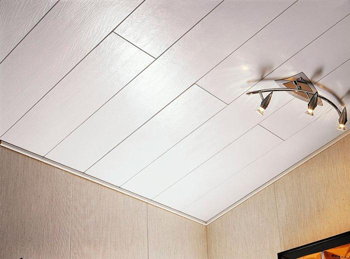 Потолок для кухни из панелей - практично и экономно