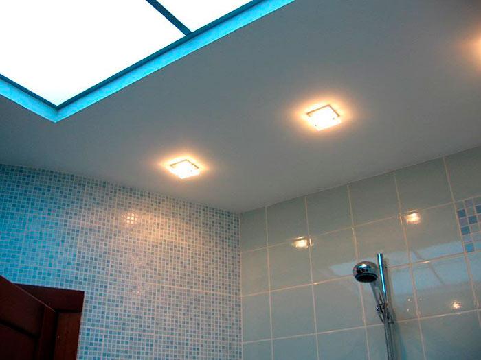 Потолок для ванной из влагостойкого гипсокартона