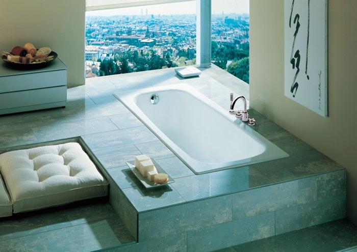 Стальная ванна имеет сравнительно низкую цену