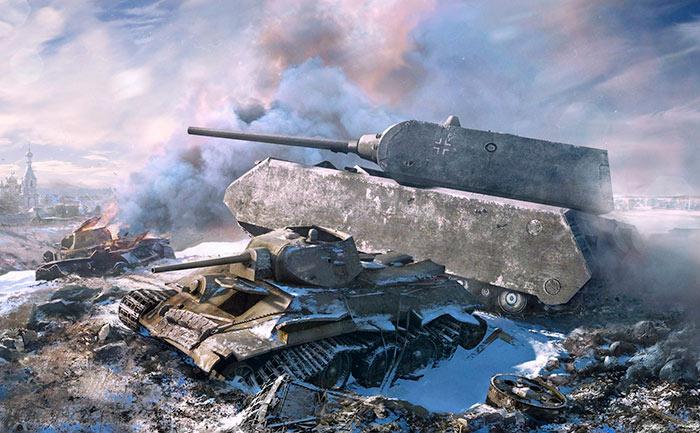 Танк Maus отличается непробиваемой броней