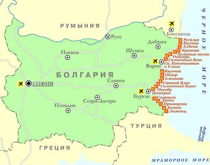 Курорты в Болгарии