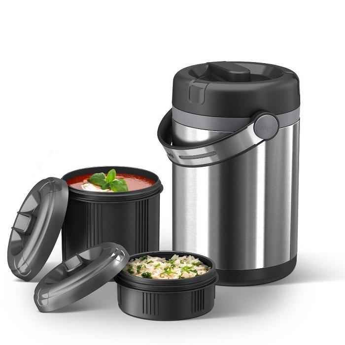 Термос с двумя контейнерами для еды
