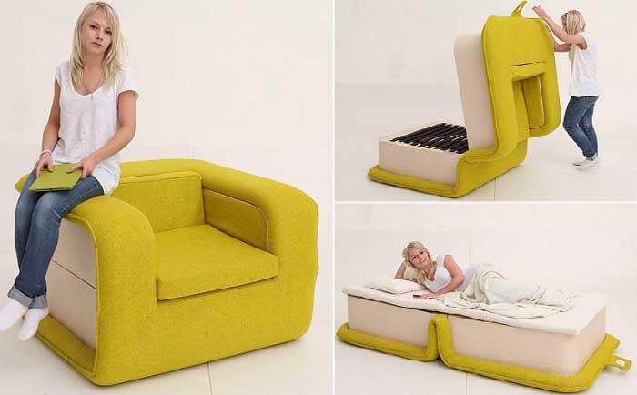 Кресло-кровать идеальное решение для малогабаритной квартиры