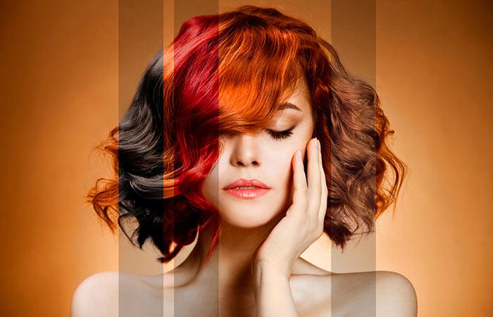 Окрашивание волос необходимо производить через 2-3 дня после мытья головы