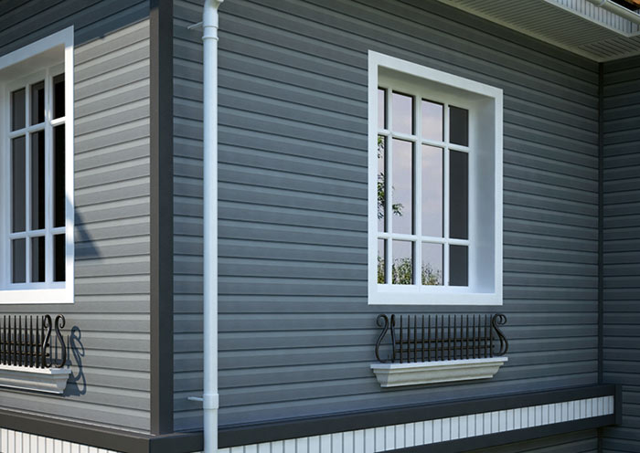 Для ошибки деревянного дома лучше использовать виниловый сайдинг