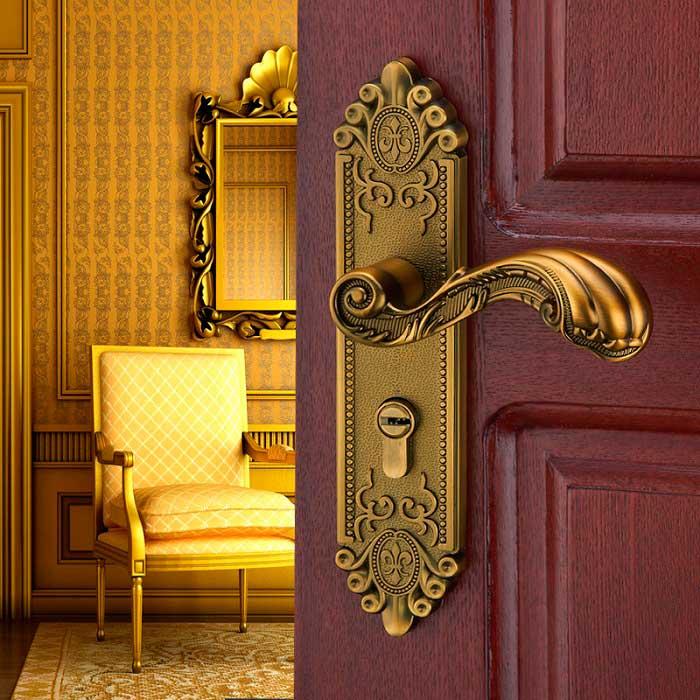 Дверная ручка должна вписываться в интерьер помещения