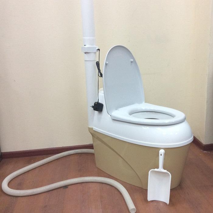 Компостирующий торфяной биотуалет PitEco 505 с вентилятором