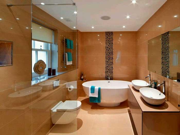 Подвесной унитаз в интерьере ванной комнаты