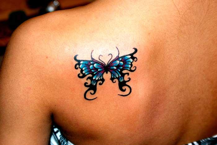 Татуировка бабочка издавна означает принадлежность к девушкам особой профессии