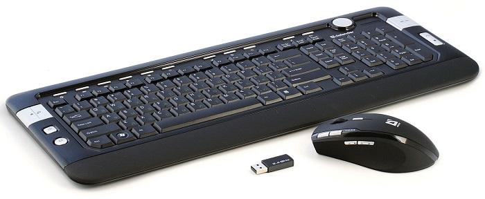 Беспроводная клавиатура и мышь сделают работу за моноблоком еще более комфортной
