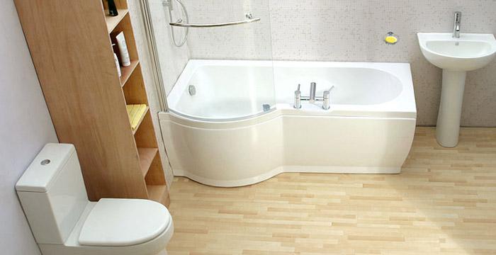 Для ванной комнаты выбирайте линолеум с ребристой, не скользкой поверхностью