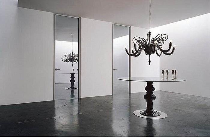 Межкомнатные зеркальные двери распашные