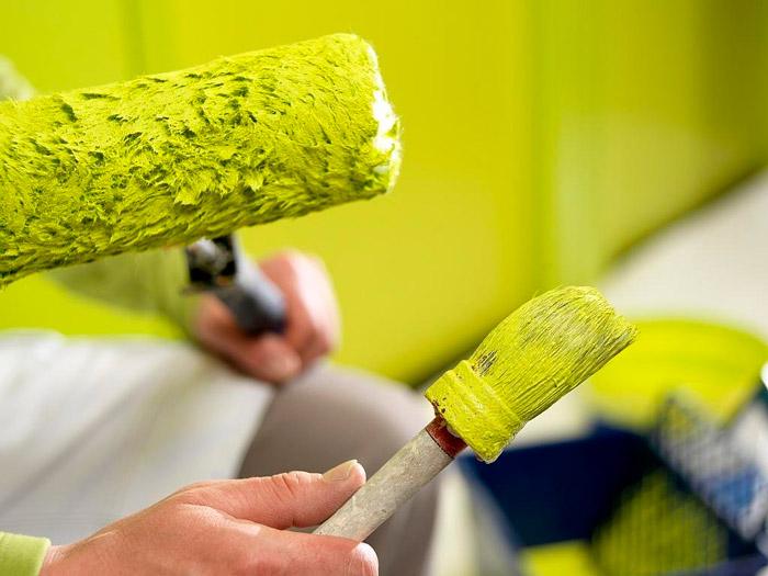 Водоэмульсионная краска легко поддается колеровке