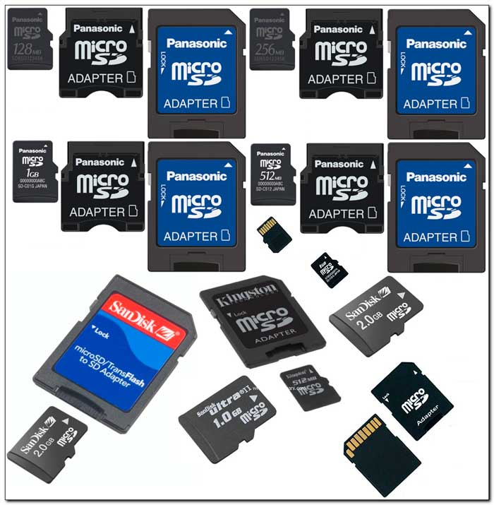 Карты памяти для смартфонов различаются по скорости, емкости и классу