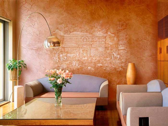 Создавайте неповторимый дизайн комнаты с помощью декоративной штукатурки
