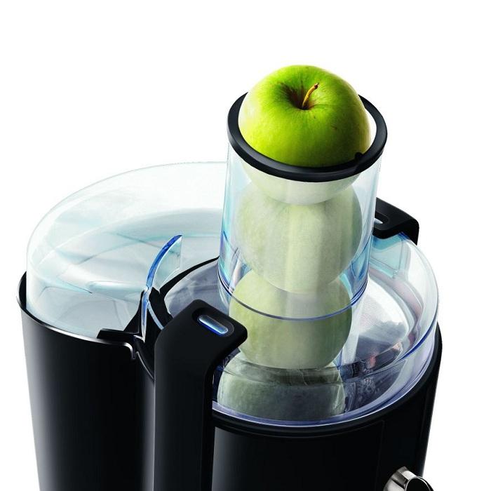 Соковыжималки с большим отверстием позволяют извлекать сок из целых яблок