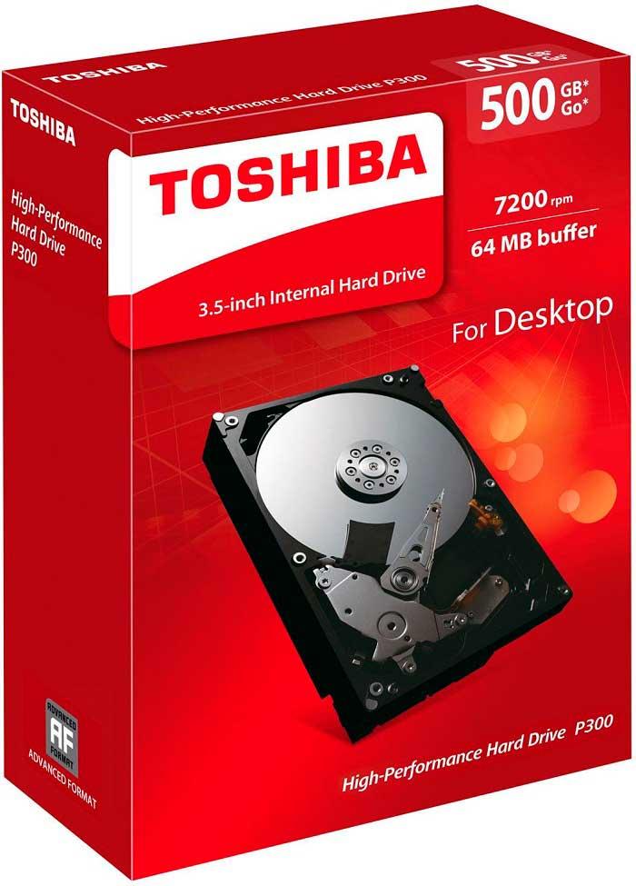 Жесткий диск Toshiba P300 подойдет для домашних и офисных компьютеров