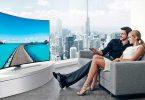 Изогнутый экран телевизора