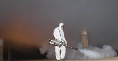 Обработка генератором холодного тумана
