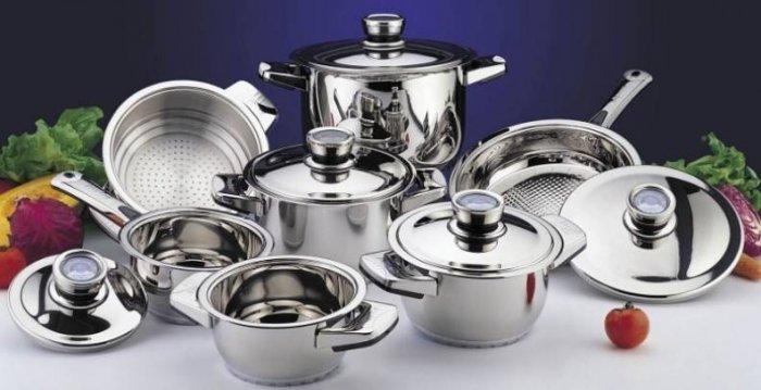Посуда из нержавеющей стали безопасна