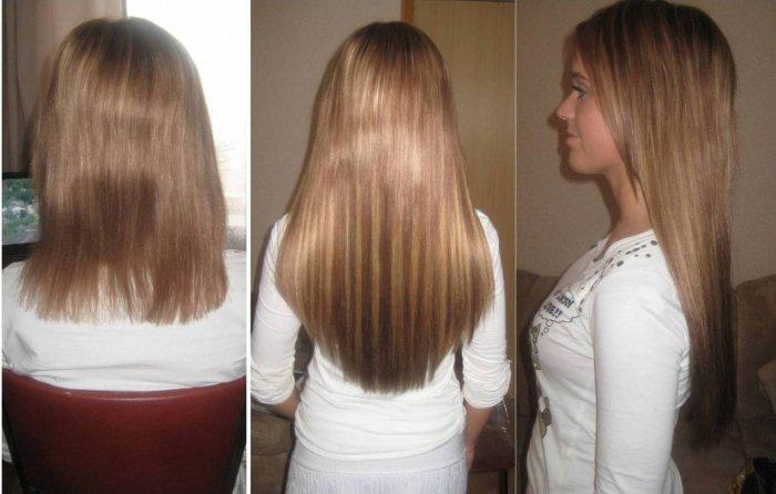 Капсульное наращивание волос фото до и после