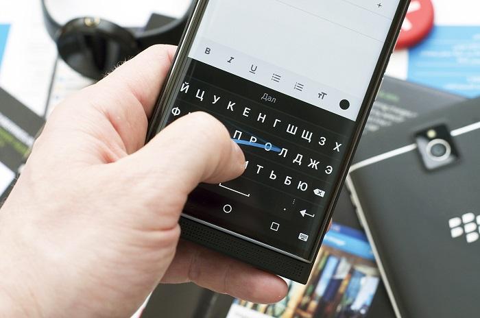 Набор текста на клавиатуре для Андроид с помощью жестов