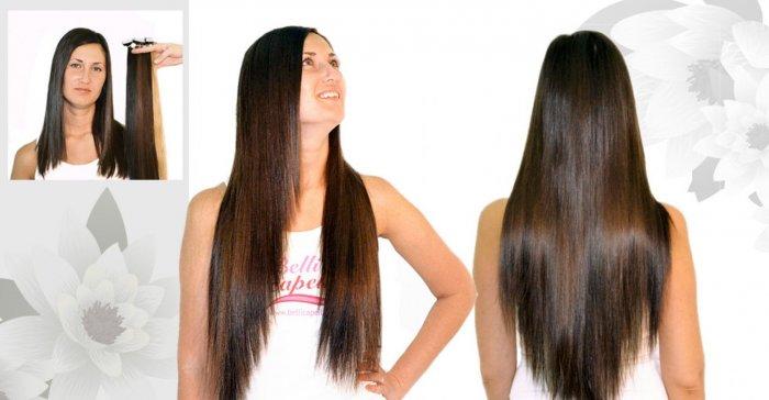 После наращивания волосы смотрятся естественно