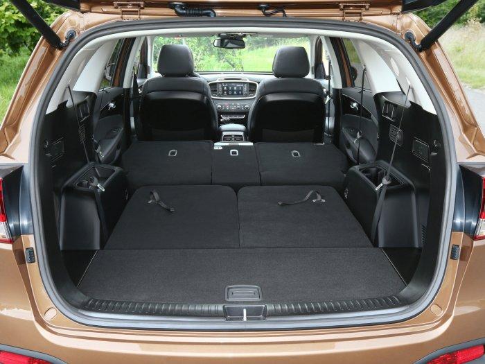 Багажник Kia Sorento при сложенных задних сиденьях