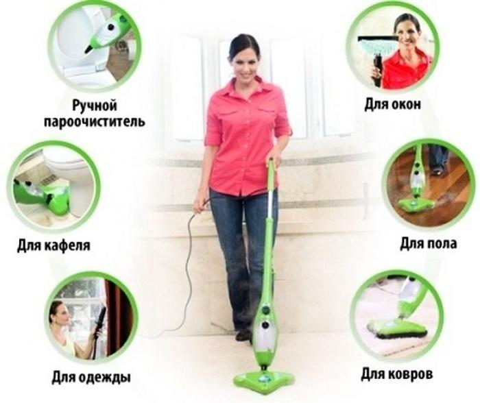 Паровая швабра - лучшая помощница при уборке квартиры
