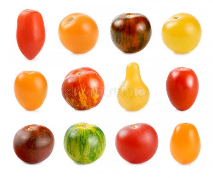 Для декора лучше выбрать помидоры черри или необычных цветов