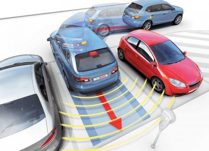 Парктроники помогают парковаться неопытным водителям, избегая аварий