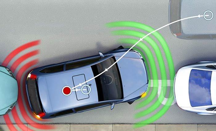 Парктроник с видеоподачей сигнала чертит траекторию движения автомобиля