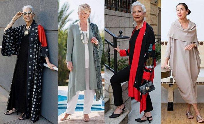 Женщинам после 50 лет рекомендуется выбирать одежду спокойных светлых цветов
